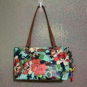 SAKROOTS Flower Power 🌸 Satchel Bag ~ Seafoam ~